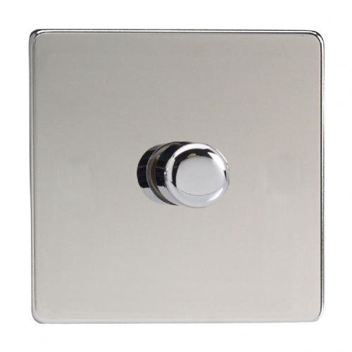 Varilight HDC3S Screwless Polished Chrome 1 Gang 2-Way Push-On/Off Dimmer 60-400W V-Dim